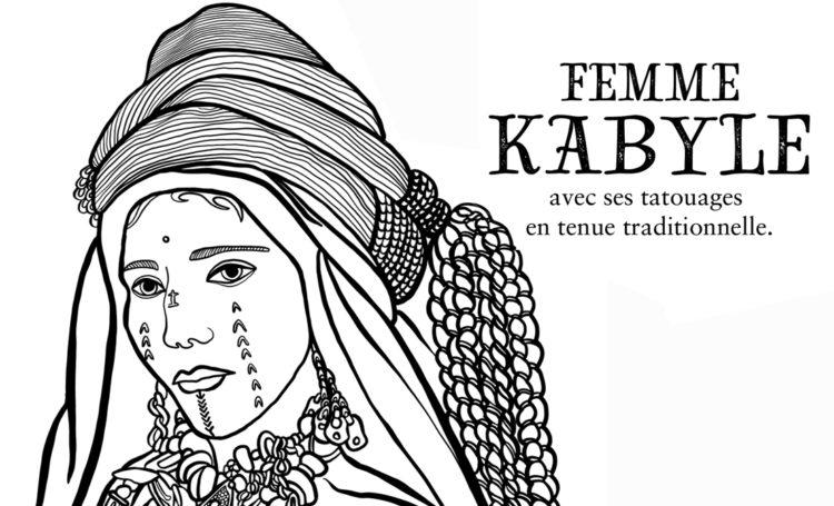 Dessin A Colorier Femme Kabyle Marie Loic Senamaud